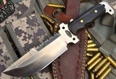 CFK USA Handmade Custom D2 Black Micarta Combat Spec Ops Fighter Bowie Knife