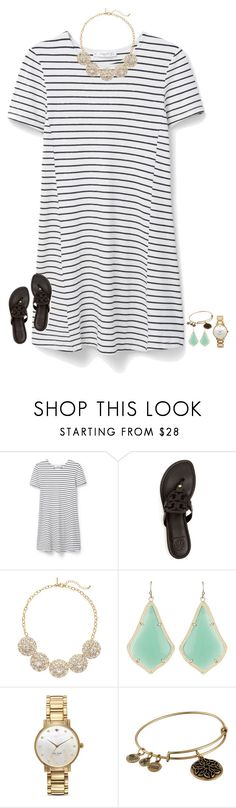 """me and my friends are all wearing dresses to school on Wednesday"" by secfashion13 ❤ liked on Polyvore featuring MANGO, Tory Burch, The Limited, Kendra Scott, Kate Spade and Alex and Ani"