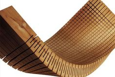BENDING WOOD A cool way to cut wood so it is flexible. via Pinterest