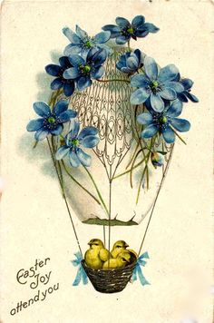 Easter postcard from 1909 posted by SUZONNE STIRLING.