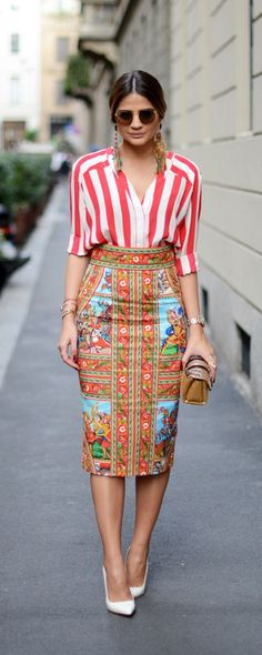 Dolce and Gabana love the skirt ^^ Cool Outfits, Casual Outfits, Amazing Outfits, Casual Clothes, Dolce E Gabbana, Street Chic, Passion For Fashion, Dress Skirt, Ideias Fashion