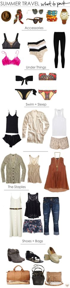 beach travel outfits / what to pack / summer loving