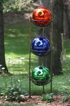 Colorful gazing balls
