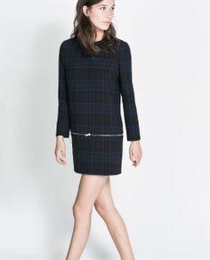 ZARA - WOMAN - CHECKED DRESS WITH ZIPS