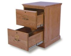 Wood 2 Drawer File Cabinet With Metal Rails Design Ideas