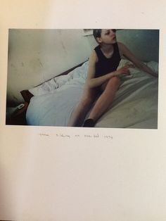 Corinne Day's autobiographical photo book Diary