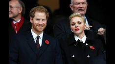 Princess Charlene of Monaco and Prince Harry attended match between Eng...