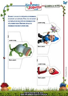 Gnomeo & Juliet Cut outs