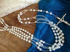 White Crystal Pearls Wedding lasso/ Lazo de Boda en perlas blancas on Etsy, $75.00
