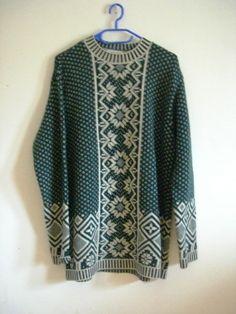 Norweger Pullover, grün