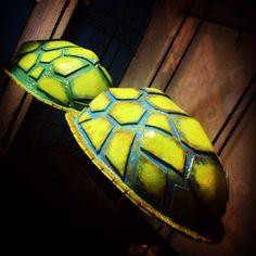 Our handmade Turtle Backpacks.