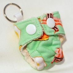 Bacon! Sunday Brunch Cloth Diaper Key Chain from mamamade