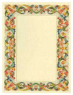 ., . ....,  #Ornamentrahmen Borders For Paper, Borders And Frames, Vintage Frames, Calligraphy Borders, Molduras Vintage, Boarder Designs, Family Tree Art, Doodle Frames, Unique Drawings