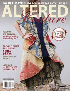 Cover page coat! Recycle, reuse, and repurpose with pages of pin-worthy projects, including patchwork creations and bleached designs. Sewing Clothes, Diy Clothes, Slow Fashion, Diy Fashion, Altered Couture, Altering Clothes, Denim Outfit, Dressmaking, Cool Outfits