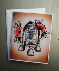 Star Wars Themed Tattoo Flash Note Cards von ParlorTattooPrints