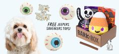 Get three free squeaker eyeball toys in your first BarkBox! The post BarkBox Deal - Free Eyeball Squeaker Toys in Your First Box! first appeared on My Subscription Addiction.