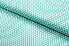 Stoff grafische Muster - Baumwolle kleine Dreiecke mint - 0,5m - ein Designerstück von Brittschens bei DaWanda