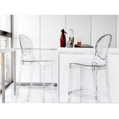 Transparent bar stool