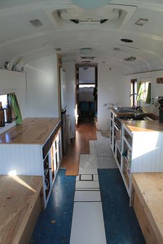 Old Bus Converted into Awesome Tiny House For Family of 6: This is a full on bus conversion to a tiny house ANYONE would be proud to call ho...