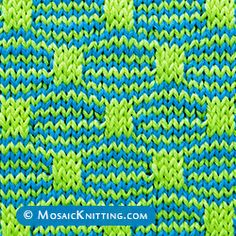 The Wave and Box Mosaic is a two color slip stitch pattern. The Wave and Box Mosai stitch. You only need to knit one colour at a time. Use two double-point needles or a circular needle.