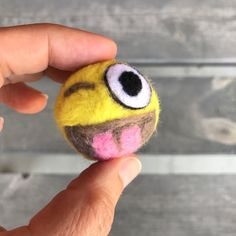 As you know, I have been toying around with #needlefelting for awhile, and recently, CraftyFelt send me a small #felt #emoji kit to test out. #diy #crafts #cute #fun