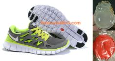 Mens Nike Free Run 2 Dark Grey Volt Shoes        #Volt  #Womens #Sneakers