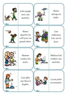 Dominos de lecture de phrases French Education, Education And Literacy, French Teaching Resources, Teaching French, Grade 1 Reading, Core French, French Classroom, French Immersion, French Teacher