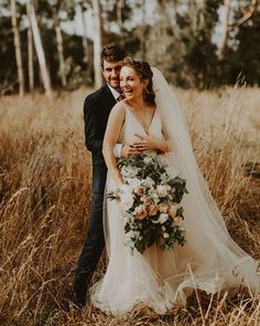 Tatsiana & Matt at the wedding in the Waikato. We found the most beautiful field will long dried grass. Grey Weddings, Grass, Most Beautiful, Wedding Dresses, Fashion, Bride Dresses, Moda, Bridal Gowns, Gray Weddings