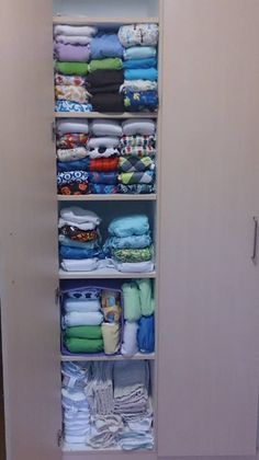 My very first stash of my cloth diapers. Eek!