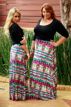 Tahitian Sunset Maxi, available in mommy and me and women's small through plus size, Be Inspired Boutique