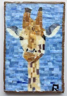 Giraffe Mosaic 8A3B35 by LachanceGlassMosaic on Etsy