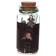 Witchy Luck Spell Jar with Clover Trinket