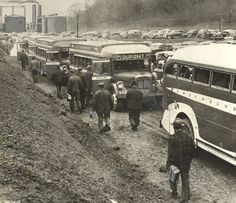 Like military personnel, civilians working in the war effort often traveled Greyhound, especially because gas and rubber rationing made car travel impractical. (Courtesy of Robert Gabrick)