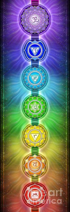 'The Seven Chakras Series Poster by Dirk Czarnota Chakra Healing, Chakra Art, Chakra Meditation, Chakra Symbols, Reiki, 7 Chakras, Fine Art Prints, Framed Prints, Canvas Prints