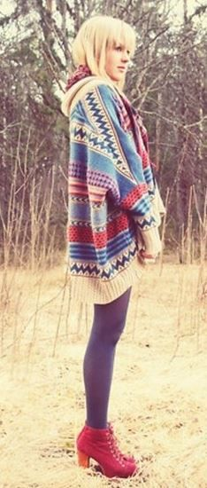 Great aztec cardigan for fall on trendslove. need this asap! Girl Fashion, Fashion Outfits, Womens Fashion, Trendy Fashion, Fashion Trends, Aztec Cardigan, Fall Cardigan, Ethno Style, Fashion Corner