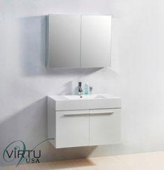 Cabinets 85879: Virtu Usa Js-50136 35 Midori Single Sink Bathroom Vanity -> BUY IT NOW ONLY: $859 on eBay!