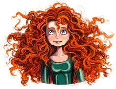 Merida by Yunyin on Disney Art Disney Princess Art, Disney Fan Art, Disney And Dreamworks, Disney Pixar, Merida Disney, Brave Merida, Merida Hair, Official Disney Princesses, Deviantart Disney