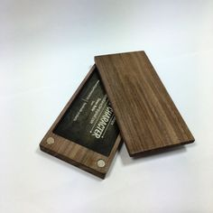 Walnut Business Card Case Features: Sleek Elegant design, with little to no bulk Holds 10-12 business cards (does not fit credit cards) Made from high quality natural walnut High quality magnets, securely holds the lid on Smooth waxed finish that showcases the natural beauty of the walnut Free domestic shipping