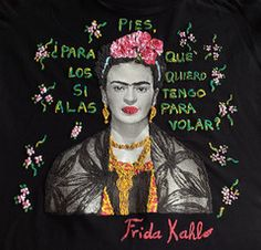 Frida Kahlo Shirt Painting T shirts 3d Art Work Quor Mexican Floral
