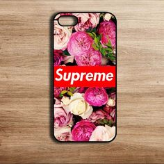 Supreme red and white roses case for iPhone 5 5s iPhone 6 #UnbrandedGeneric