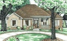 Traditional Style House Plans - 1853 Square Foot Home, 1 Story, 4 Bedroom and 3 3 Bath, 2 Garage Stalls by Monster House Plans - Plan 10-616