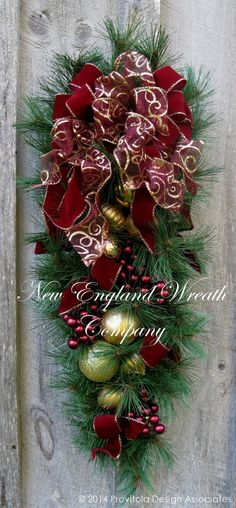 Christmas Wreath Holiday Wreath Christmas Swag por NewEnglandWreath