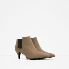 Image 3 of MID HEEL ANKLE BOOT from Zara