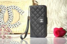 Chanel iPhone 6 Lamskin Leather Case Bag Gray Free Shipping - Deluxeiphone6case.com