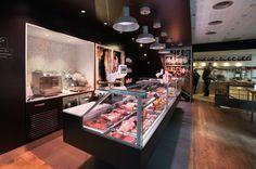 J'Go Boucherie by nakide, Toulouse – France Design Blog, Food Design, Shop Front Design, Store Design, Place Victor Hugo, Meat Shop, Butcher Shop, Dog Snacks, Design Furniture