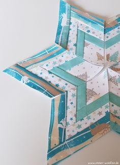Patchwork Stern, Foundation Paper Piercing, Weihnachten, Weihnachtsgeschenk