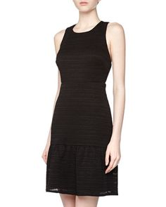 Sleeveless Criss-Cross Back Dress, Black by Phoebe Couture at Neiman Marcus Last Call.