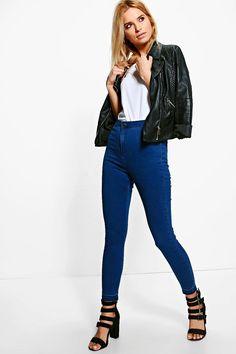 15 Lara High Rise Let Down Hem Tube Jeans
