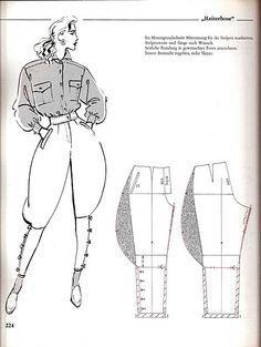 jodhpurs pattern sewing - Szukaj w Google