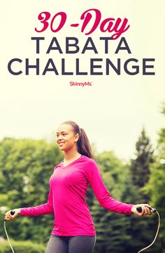 This month, we're all about Tabata! That's why, for our next challenge, we're going to dare you to do 30 days of tabata workouts! #tabata #fitness #skinnyms | 30-Day Tabata Challenge
